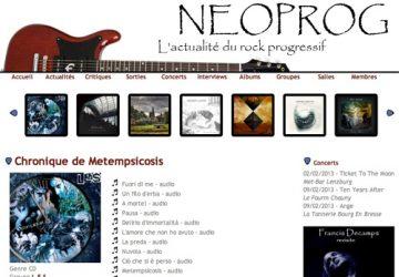 Recensione di Neoprog su Metempsicosis! - L.E.S. - Lamberto Salucco
