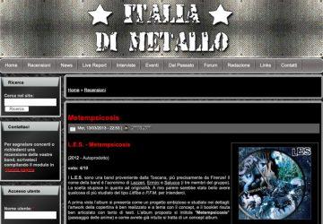 Recensione di Metempsicosis dei L.E.S. su ITALIA DI METALLO