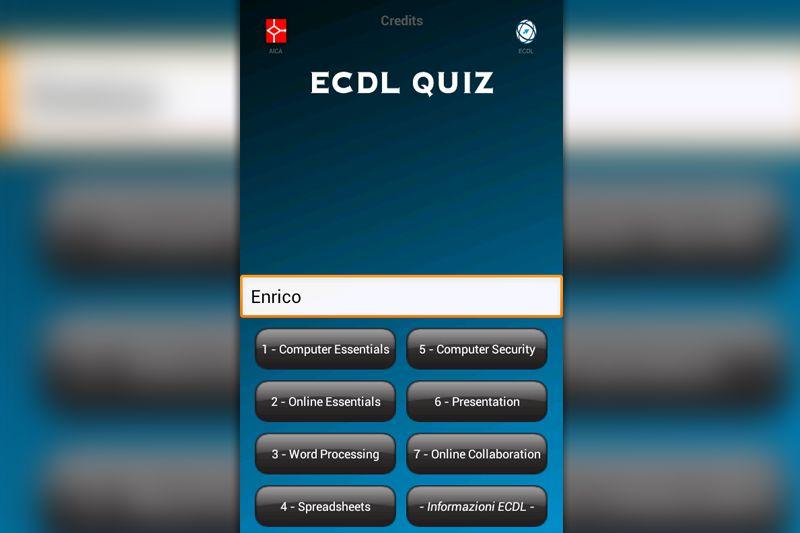 EcdlQuiz by Lamberto Salucco for AICA