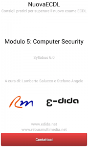 Nuova ECDL - Modulo 5 - Computer Security