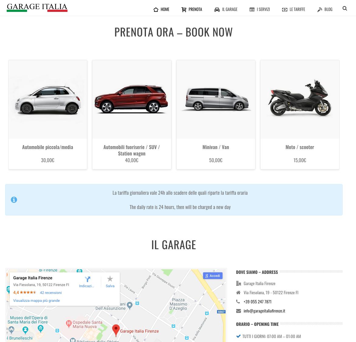 Pubblicato il restyling del sito Garage Italia Firenze - Rebus Multimedia - Lamberto Salucco